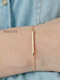 Golden Simple Stacked  Bracelet