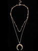 DaysCloth Daily Fashion Alloy Moon Necklace