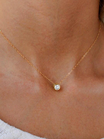 Simple Necklace Crystal