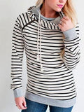 Fashion Elegant Striped Loose Pullover Top