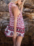 Bohemian Sleeveless Mini Dress