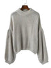 DaysCloth Retro Knit Bishop Solid Color Loose Sweater