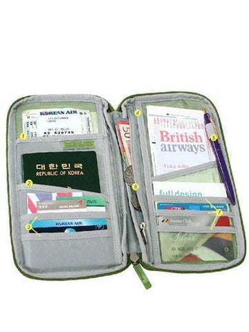Travel Journey Organizer Wallet Passport ID Card Holder Case Cover Wallet Purse