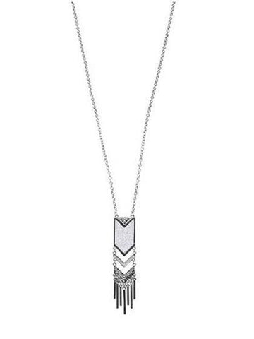 DaysCloth Fashion Silver Tassels Necklace