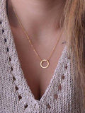 Simple Necklaces Circle Pendant