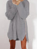 DaysCloth Casual  Zipper Solid Color Long Sleeve Sweater Dress