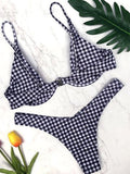 Cute Plaid Bikini Set