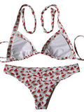 Cute Watermelon Pineapple Print Bikini Set