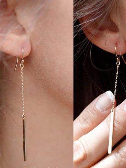 Alloy Geometry Pendant Earring