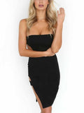 Bandeau Split Side Cut Out Detail Dress