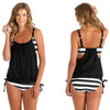 DaysCloth Womens Stripes Lined Up Double Up Tankini Top Swimwear - 4 colour