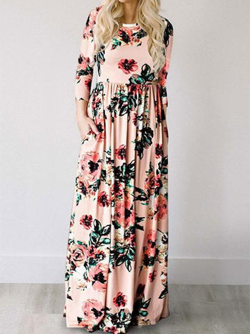 Ecstatic Harmony Blush Classic Rose Maxi Dress