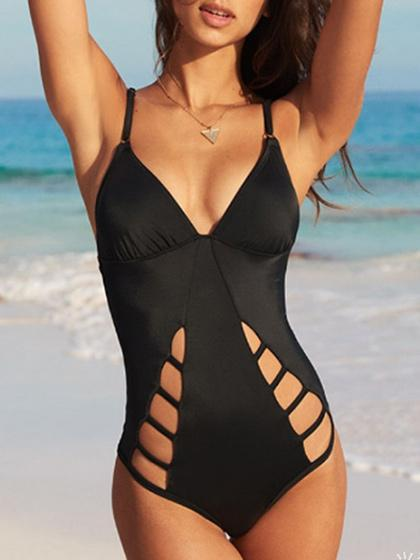 DaysCloth Pull Me Closer Cross back One piece Swimsuit