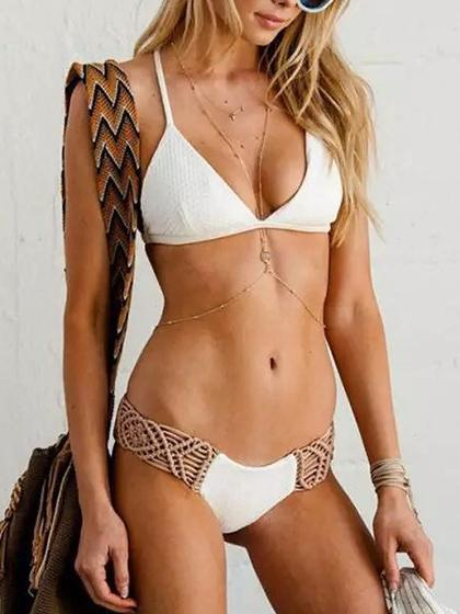 Beach Dream Woven Bikini Set