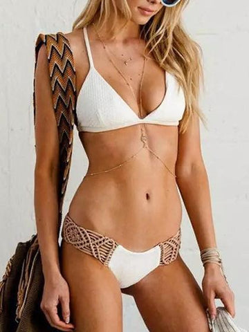 DaysCloth Beach Dream Woven Bikini Set