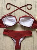 Beach Babe Bandage Red Bikini Set