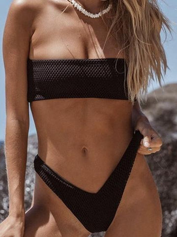 DaysCloth Beach Babe Black Bikini Set
