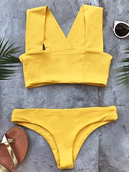 Seaside Splendor Yellow  Bikini Set