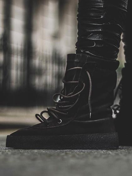 DaysCloth Black Faux Suede Lace Up Ankle Boots