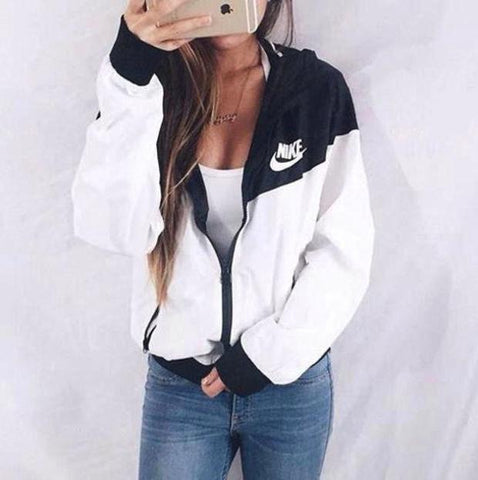 "DaysCloth Winter Fashion ""NIKE"" Hooded Zipper Cardigan Sweatshirt Jacket Coat Windbreaker Sportswear hashtag clothes"