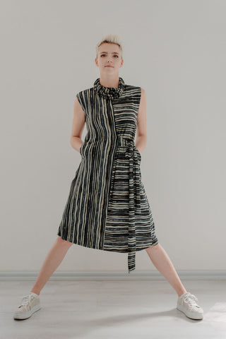 Calvin_dress_moss_stripe