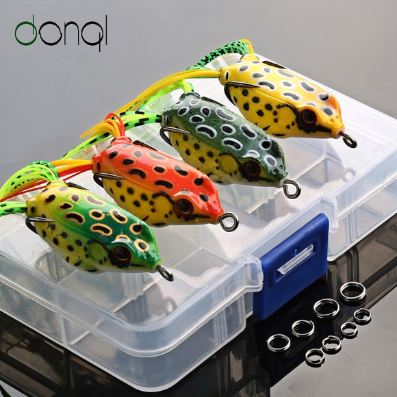 Soft Frog Fishing Lures Double Hooks