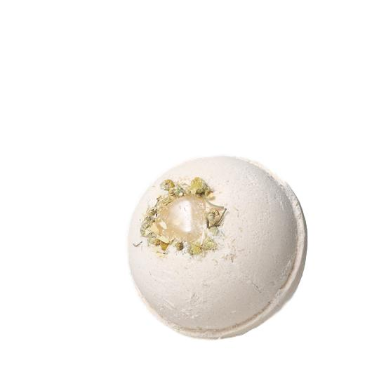 Citrine + Orange Chamomile Gemstone Bath Bomb