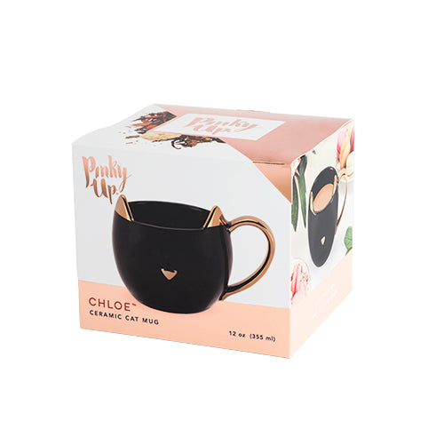 Chloe Cat Mug Black