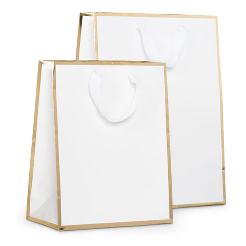 Gift Bag White and Gold