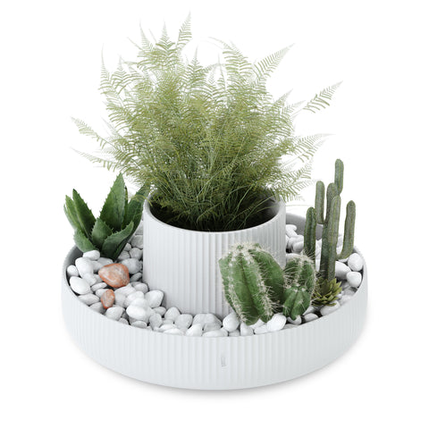 Fountain Planter White