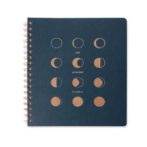 Undated Monthly Planner Moon Phases