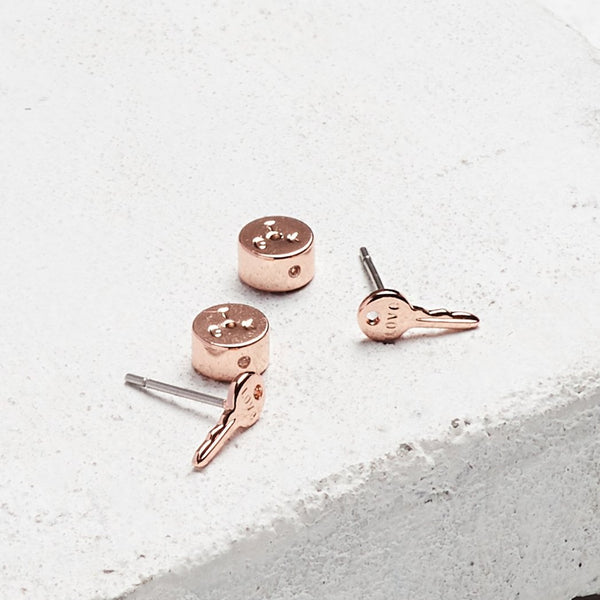 Love Mini Key Earrings