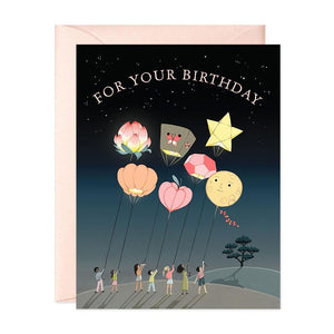 Lanterns Birthday Card