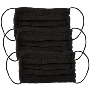 Set of 3 Face Masks Black