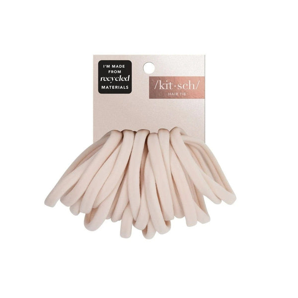 Nylon Hair Ties 20pc Set Blush
