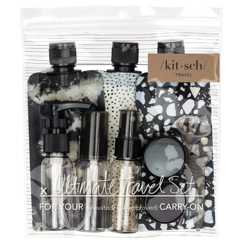 Ultimate 11 Piece Travel Set Black/Ivory