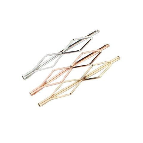 Double Diamond Bobby Pins Set/3