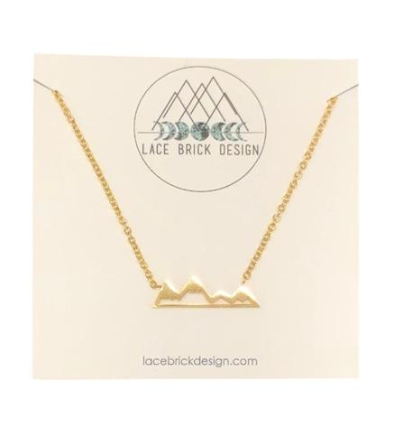 Mountain Alpine Necklace - Gold