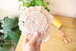 DIY Macramé Coasters Kit Pink