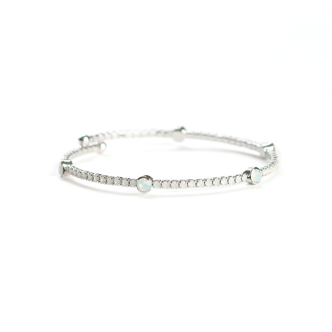 Constellation Bracelet White Opal/Silver