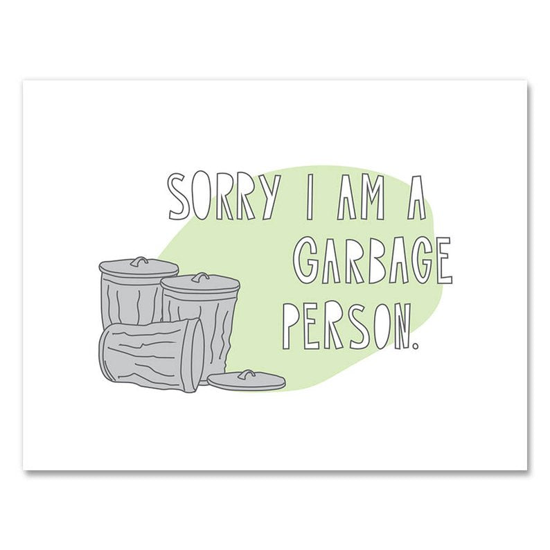 Garbage Person Card