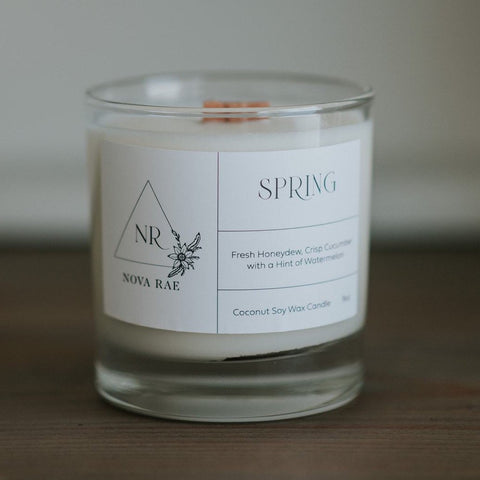 Wood Wick Candle Spring