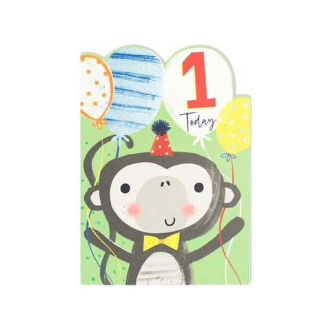 1 Today Monkey Birthday Card
