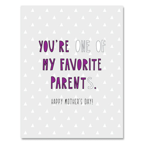Favorite Parent Mother's Day Card