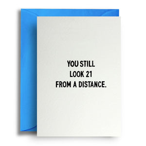 21 From A Distance Birthday Card