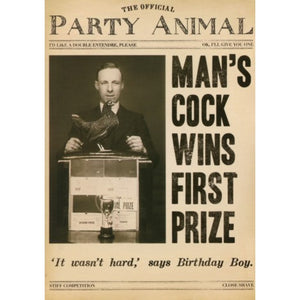 First Prize Cock Birthday Card