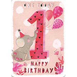 One Today Birthday Card Pink