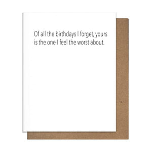 Forget Birthday Card