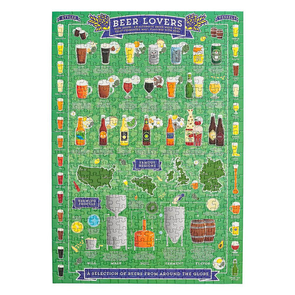 500 Piece Puzzle Beer Lover's