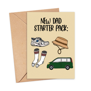 New Dad Starter Pack Card